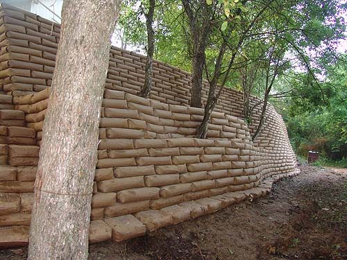 Concrete Bag Retaining Wall Pics